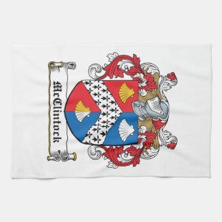 Escudo de la familia de McClintock Toalla De Mano