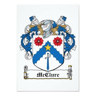 """Escudo de la familia de McClure Invitación 5"""" X 7"""""""