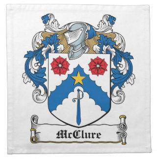 Escudo de la familia de McClure Servilletas