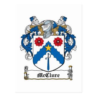 Escudo de la familia de McClure Tarjeta Postal