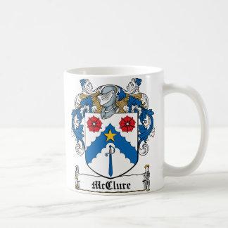 Escudo de la familia de McClure Tazas De Café