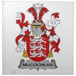 Escudo de la familia de McCoghlan Servilleta