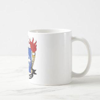 Escudo de la familia de McComb Tazas De Café