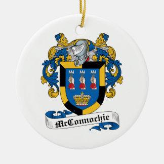 Escudo de la familia de McConnochie Adorno Redondo De Cerámica