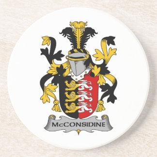 Escudo de la familia de McConsidine Posavasos Cerveza
