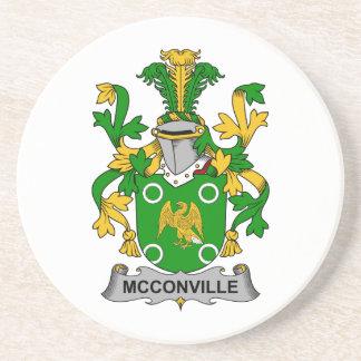 Escudo de la familia de McConville Posavasos Diseño