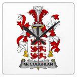 Escudo de la familia de McCoughlan Reloj