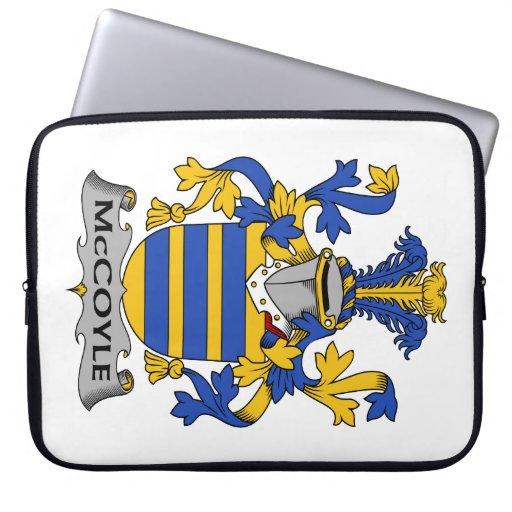 Escudo de la familia de McCoyle Mangas Portátiles