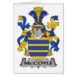 Escudo de la familia de McCoyle Tarjeta