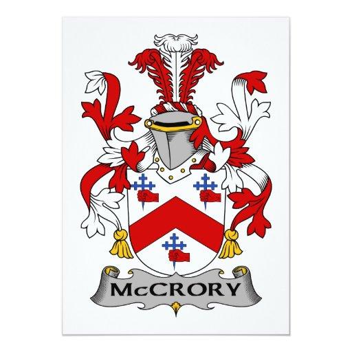 """Escudo de la familia de McCrory Invitación 5"""" X 7"""""""