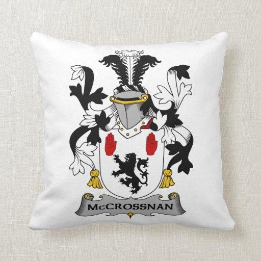 Escudo de la familia de McCrossan Cojines