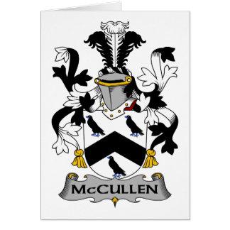 Escudo de la familia de McCullen Tarjeta De Felicitación