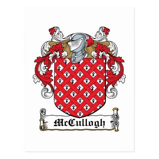 Escudo de la familia de McCullogh Postales