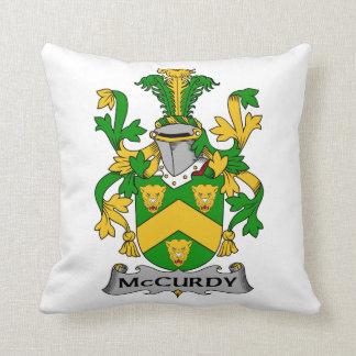 Escudo de la familia de McCurdy Almohadas