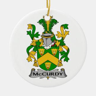 Escudo de la familia de McCurdy Adorno Redondo De Cerámica