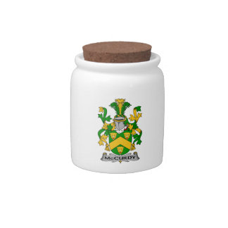 Escudo de la familia de McCurdy Jarras Para Caramelos