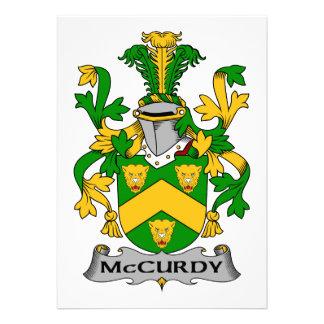 Escudo de la familia de McCurdy Comunicados Personales