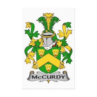 Escudo de la familia de McCurdy Impresion En Lona
