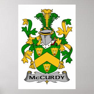 Escudo de la familia de McCurdy Posters