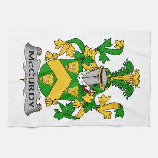 Escudo de la familia de McCurdy Toalla