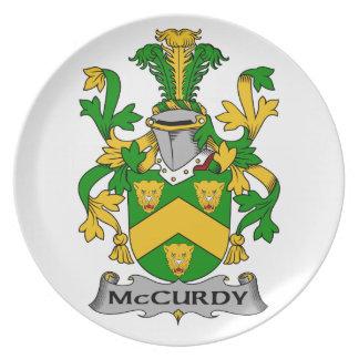 Escudo de la familia de McCurdy Plato