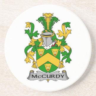 Escudo de la familia de McCurdy Posavasos Manualidades