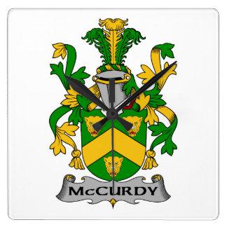 Escudo de la familia de McCurdy Reloj