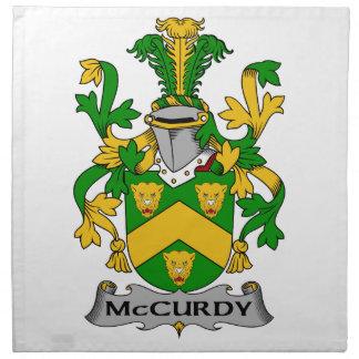 Escudo de la familia de McCurdy Servilleta