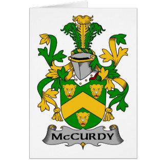 Escudo de la familia de McCurdy Felicitaciones