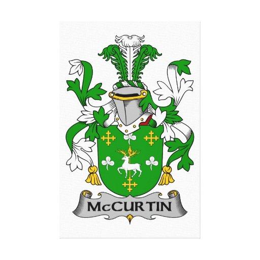 Escudo de la familia de McCurtin Impresión En Lona Estirada