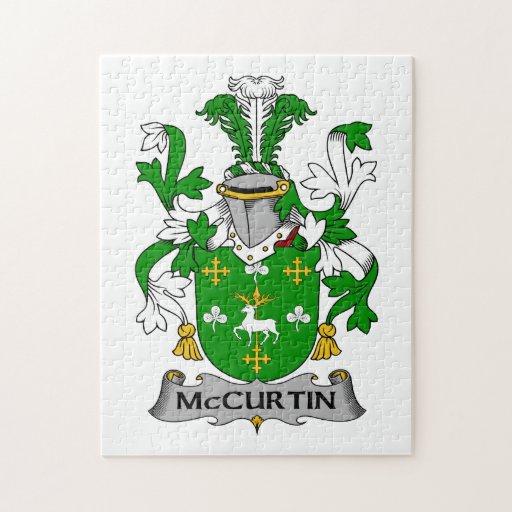 Escudo de la familia de McCurtin Puzzle Con Fotos