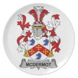 Escudo de la familia de McDermot Plato De Cena