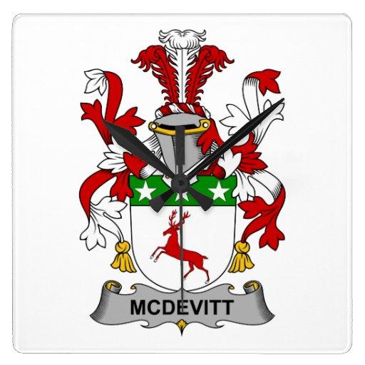 Escudo de la familia de McDevitt Reloj