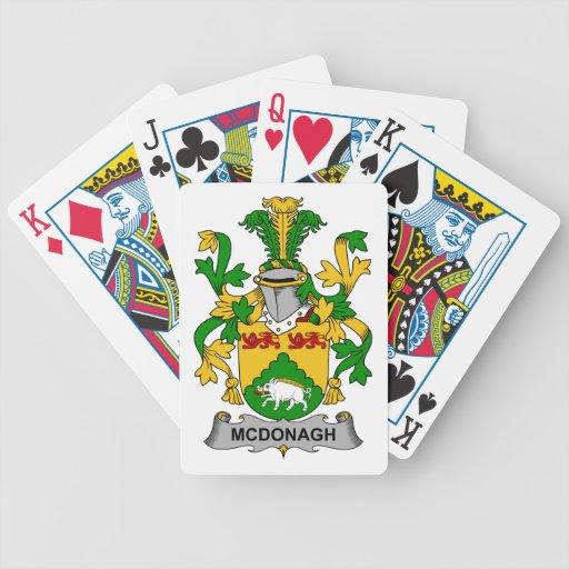 Escudo de la familia de McDonagh Baraja Cartas De Poker