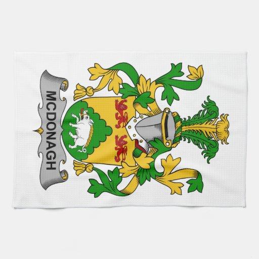 Escudo de la familia de McDonagh Toallas