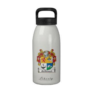 Escudo de la familia de McDonnell Botella De Agua