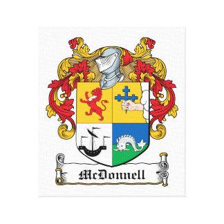 Escudo de la familia de McDonnell Impresión De Lienzo