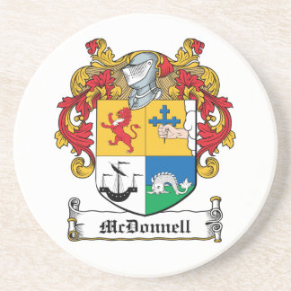 Escudo de la familia de McDonnell Posavasos Manualidades