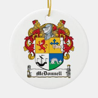 Escudo de la familia de McDonnell Adorno Redondo De Cerámica