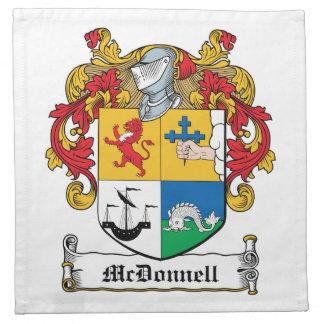 Escudo de la familia de McDonnell Servilletas Imprimidas