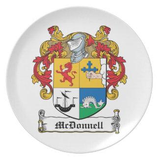 Escudo de la familia de McDonnell Plato