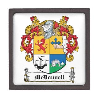 Escudo de la familia de McDonnell Cajas De Recuerdo De Calidad