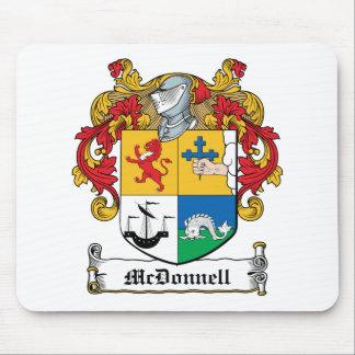 Escudo de la familia de McDonnell Alfombrillas De Raton