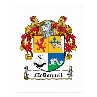Escudo de la familia de McDonnell Tarjeta Postal