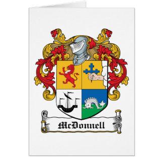 Escudo de la familia de McDonnell Tarjeton