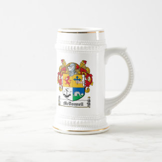 Escudo de la familia de McDonnell Taza De Café