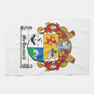 Escudo de la familia de McDonnell Toalla De Mano