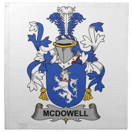 Escudo de la familia de McDowell Servilleta Imprimida