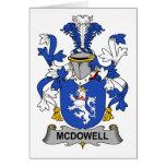 Escudo de la familia de McDowell Tarjetón