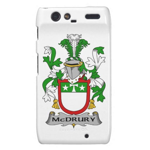Escudo de la familia de McDrury Droid RAZR Fundas